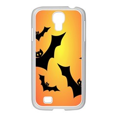 Bats Orange Halloween Illustration Clipart Samsung Galaxy S4 I9500/ I9505 Case (white)