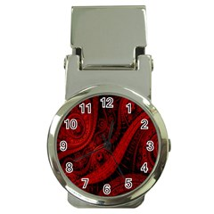 Batik Chevron Wave Free Red Money Clip Watches