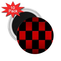 Board Red Black 2 25  Magnets (10 Pack)  by Jojostore