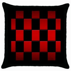 Board Red Black Throw Pillow Case (black)