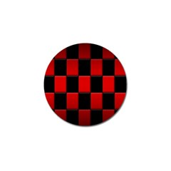 Board Red Black Golf Ball Marker (4 Pack) by Jojostore