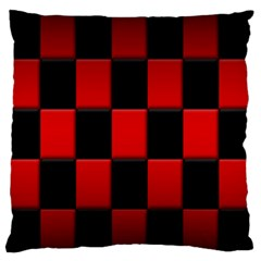 Board Red Black Standard Flano Cushion Case (one Side) by Jojostore