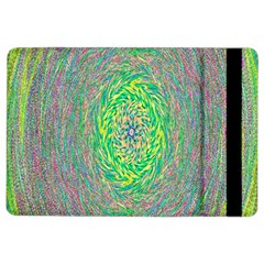 Abstraction Illusion Rotation Green Gray Ipad Air 2 Flip by Jojostore