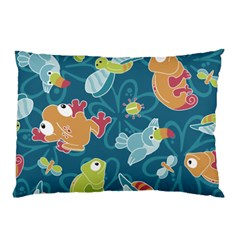 Animals Bee Frog Peacock Iguana Jpeg Pillow Case