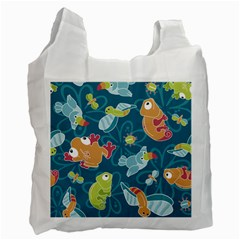 Animals Bee Frog Peacock Iguana Jpeg Recycle Bag (one Side) by Jojostore