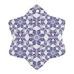 Better Blue Flower Snowflake Ornament (two Sides) by Jojostore