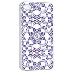 Better Blue Flower Apple Iphone 4/4s Seamless Case (white) by Jojostore