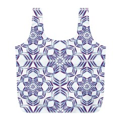 Better Blue Flower Full Print Recycle Bags (l)  by Jojostore