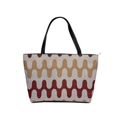 Bullard Line Fabric Chevron Wave Shoulder Handbags by Jojostore