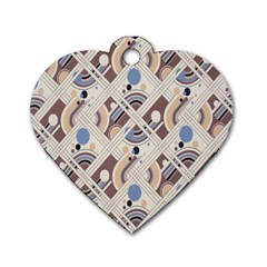 Brown Dog Tag Heart (two Sides)