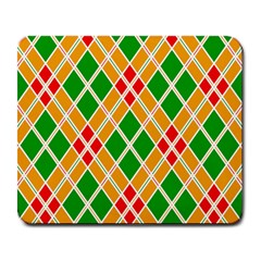 Chevron Wave Green Red Orange Line Large Mousepads