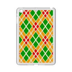 Chevron Wave Green Red Orange Line Ipad Mini 2 Enamel Coated Cases by Jojostore