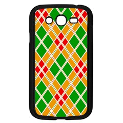 Chevron Wave Green Red Orange Line Samsung Galaxy Grand Duos I9082 Case (black) by Jojostore