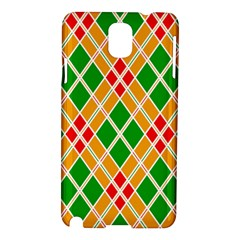Chevron Wave Green Red Orange Line Samsung Galaxy Note 3 N9005 Hardshell Case by Jojostore