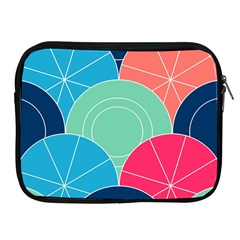 Diagonal Color Way Apple Ipad 2/3/4 Zipper Cases