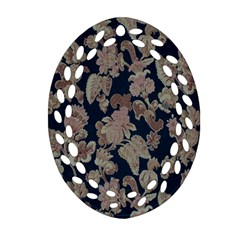 Fabrics Floral Oval Filigree Ornament (two Sides)