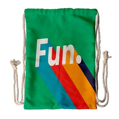 Fun Drawstring Bag (large) by Jojostore