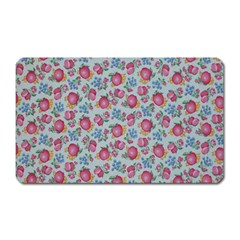 Fruit Flower Red Magnet (rectangular)
