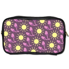 Gloves Sun Purple Yellow Toiletries Bags 2-side