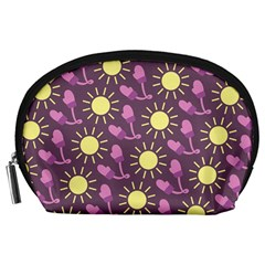Gloves Sun Purple Yellow Accessory Pouches (large)