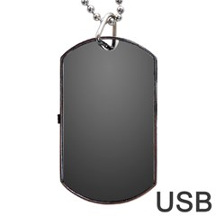 Gray Color Dog Tag Usb Flash (two Sides)