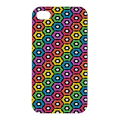 Geometric Pattern Single Page Apple Iphone 4/4s Premium Hardshell Case by Jojostore