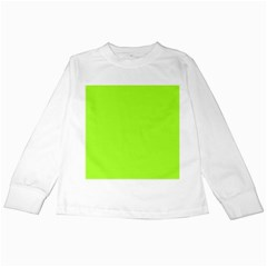 Green Color Kids Long Sleeve T-shirts