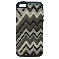 Geometric Home Decor Fabric Apple Iphone 5 Hardshell Case (pc+silicone)