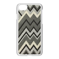 Geometric Home Decor Fabric Apple Iphone 7 Seamless Case (white) by Jojostore