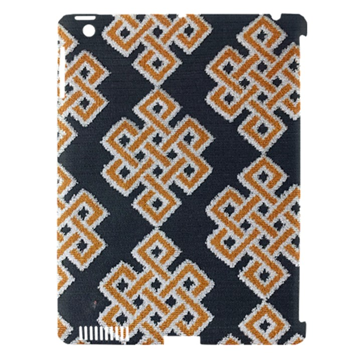 Geometric Cut Velvet Drapery Upholstery Fabric Apple iPad 3/4 Hardshell Case (Compatible with Smart Cover)