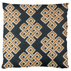 Geometric Cut Velvet Drapery Upholstery Fabric Large Cushion Case (two Sides) by Jojostore