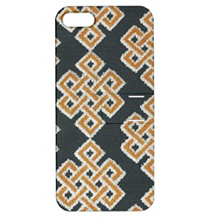 Geometric Cut Velvet Drapery Upholstery Fabric Apple Iphone 5 Hardshell Case With Stand by Jojostore