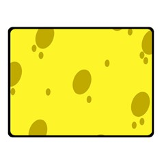 Hole Cheese Yellow Fleece Blanket (small)