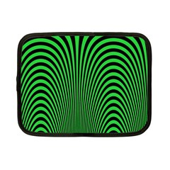 Green Optical Illusion Netbook Case (small)  by Jojostore