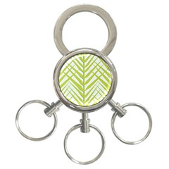 Leaf Coconut 3 Ring Key Chains