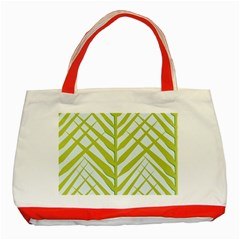 Leaf Coconut Classic Tote Bag (red) by Jojostore