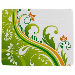 Leaf Flower Green Floral Jigsaw Puzzle Photo Stand (rectangular) by Jojostore