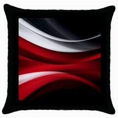 Lines Red Throw Pillow Case (black) by Jojostore