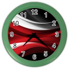 Lines Red Color Wall Clocks