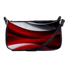 Lines Red Shoulder Clutch Bags
