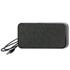 Linen Solid Fabric Portable Speaker (black) by Jojostore