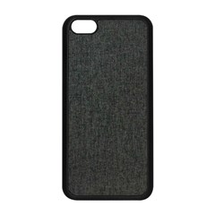 Linen Solid Fabric Apple Iphone 5c Seamless Case (black) by Jojostore