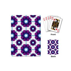 Link Scheme Analogous Purple Flower Playing Cards (mini)  by Jojostore