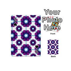 Link Scheme Analogous Purple Flower Playing Cards 54 (mini)  by Jojostore