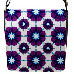 Link Scheme Analogous Purple Flower Flap Messenger Bag (s) by Jojostore