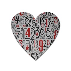 Number Heart Magnet by Jojostore