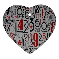 Number Heart Ornament (two Sides)