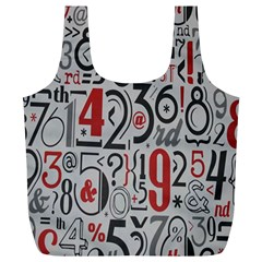 Number Full Print Recycle Bags (l)