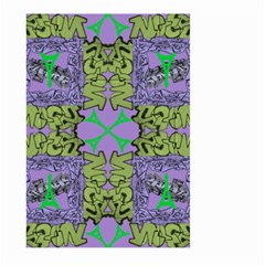Paris Eiffel Tower Purple Green Large Garden Flag (two Sides)