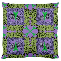 Paris Eiffel Tower Purple Green Standard Flano Cushion Case (two Sides) by Jojostore